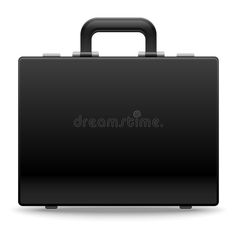 黑企业公文包传染媒介例证 向量例证