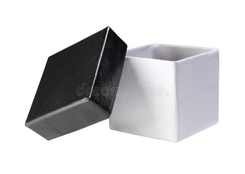 黑匣子礼品开放白色 免版税库存图片