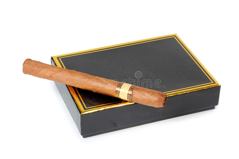 黑匣子雪茄 免版税库存照片