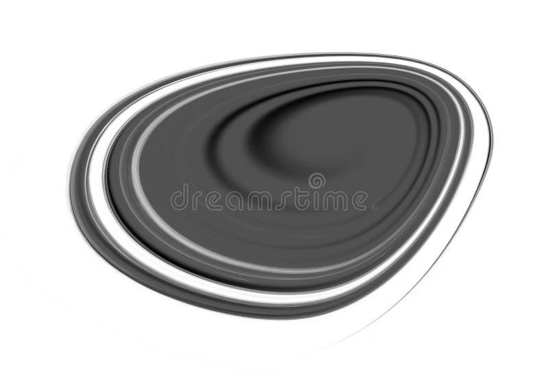 黑卵形图表颜色刷子抚摸对白色颜色背景的作用 向量例证