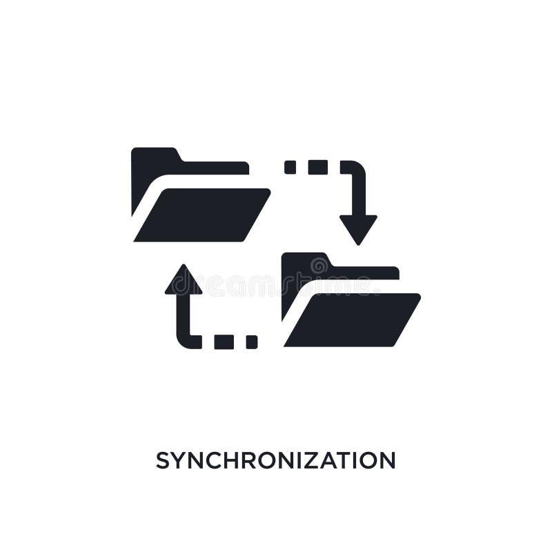 黑同步被隔绝的传染媒介象 从大数据概念传染媒介象的简单的元素例证 同步 库存例证