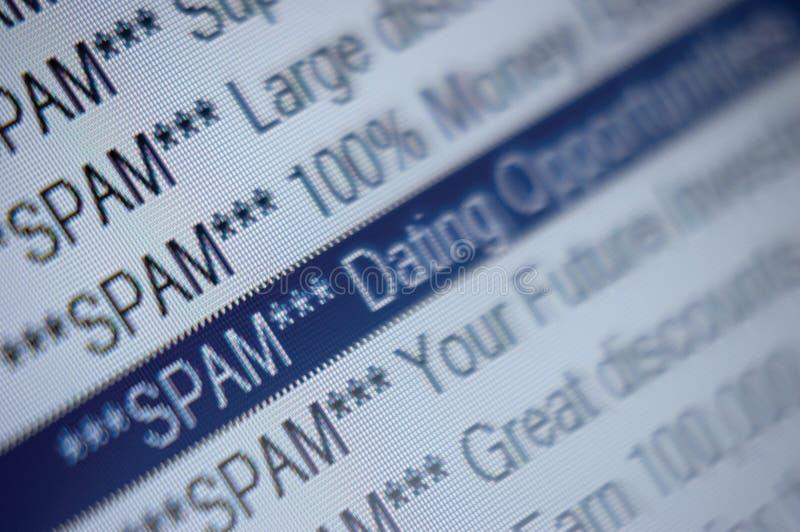 黑名单电子邮件文件夹列表营销发送&# 库存图片