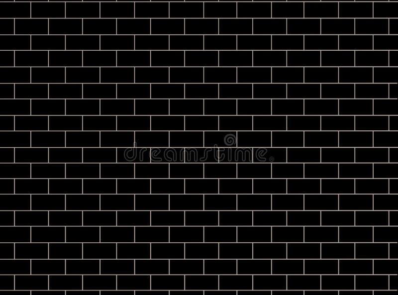 砖墙样式 黑和灰色表面背景 块和水泥建筑 抽象砖砌纹理 ?? 向量例证