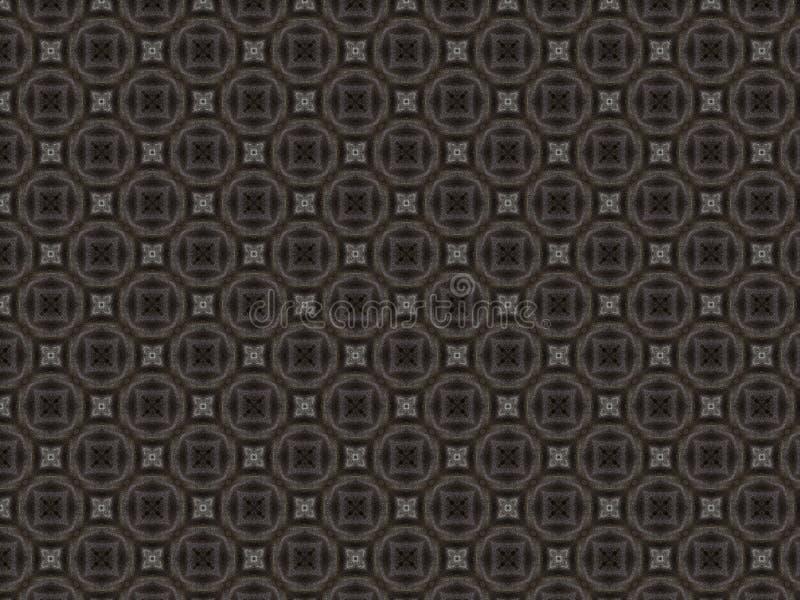 黑和灰色颜色欢乐发光的织品与一个计算的样式的 库存例证