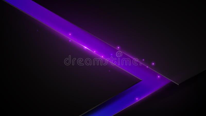 黑和紫色抽象三角背景 皇族释放例证