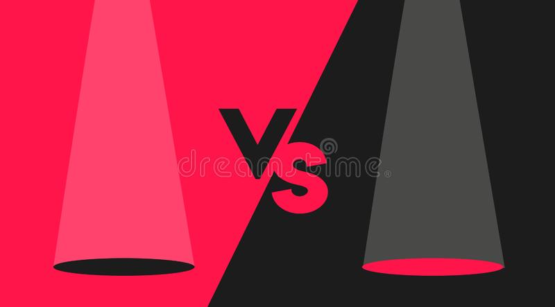 黑和红色对屏幕设计现代概念 向量例证
