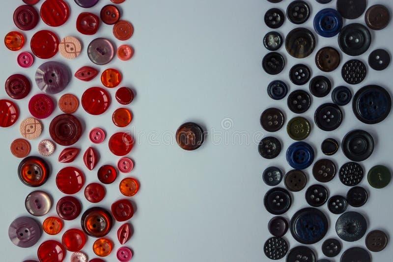 黑和红色按钮背景  库存图片