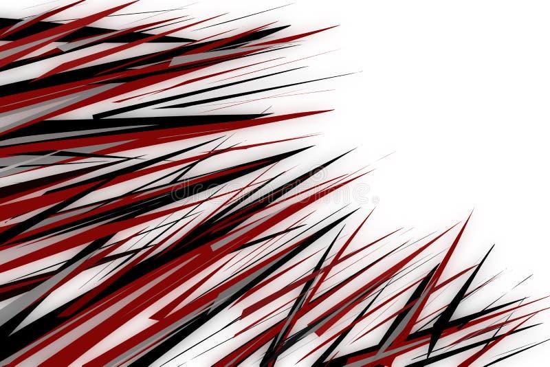 黑和红色钉例证 免版税库存图片