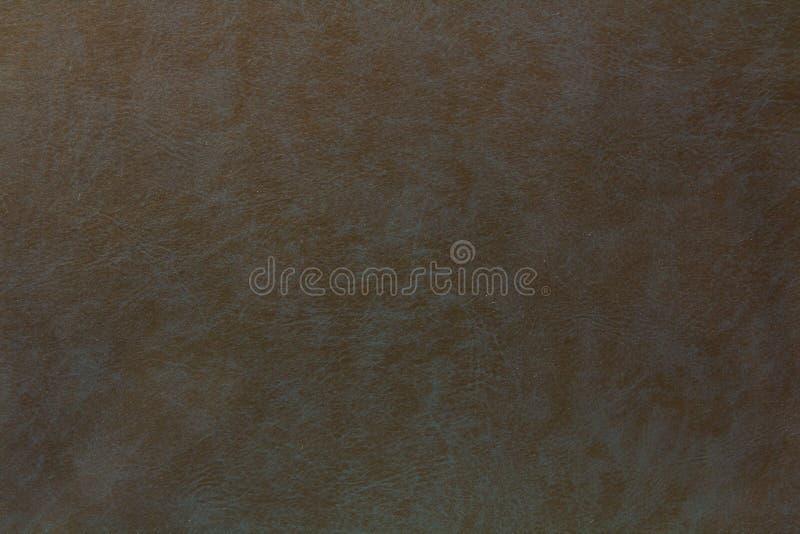 黑和蓝色皮革背景或纹理 免版税库存图片