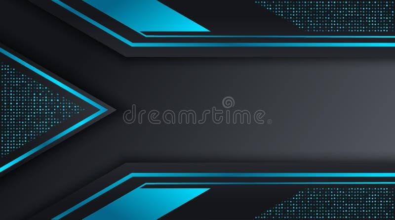 黑和蓝色Techno公司业务背景设计模板 皇族释放例证