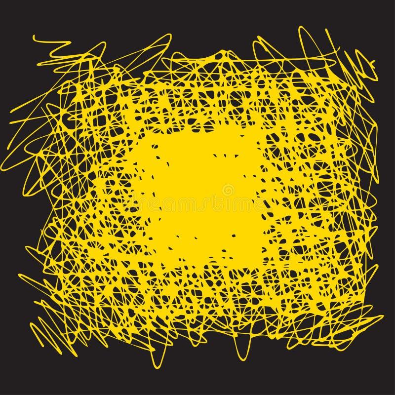 黑和黄色90s样式抓痕 皇族释放例证