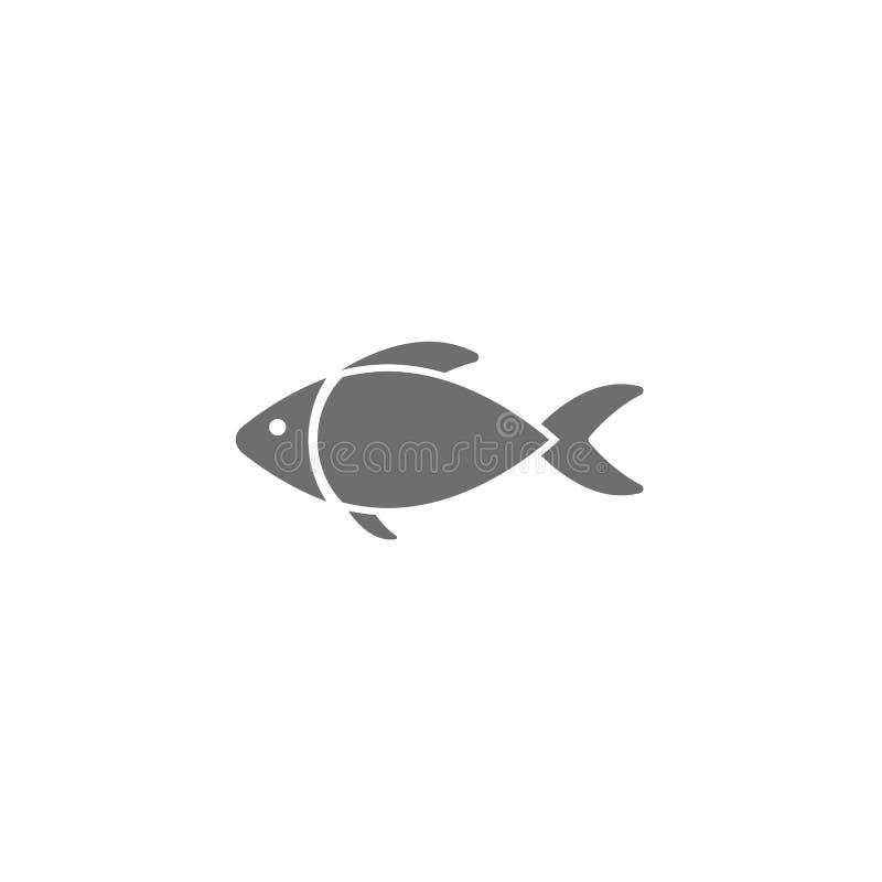 黑在白色隔绝的鱼平的象 也corel凹道例证向量 渔场,钓鱼 库存例证