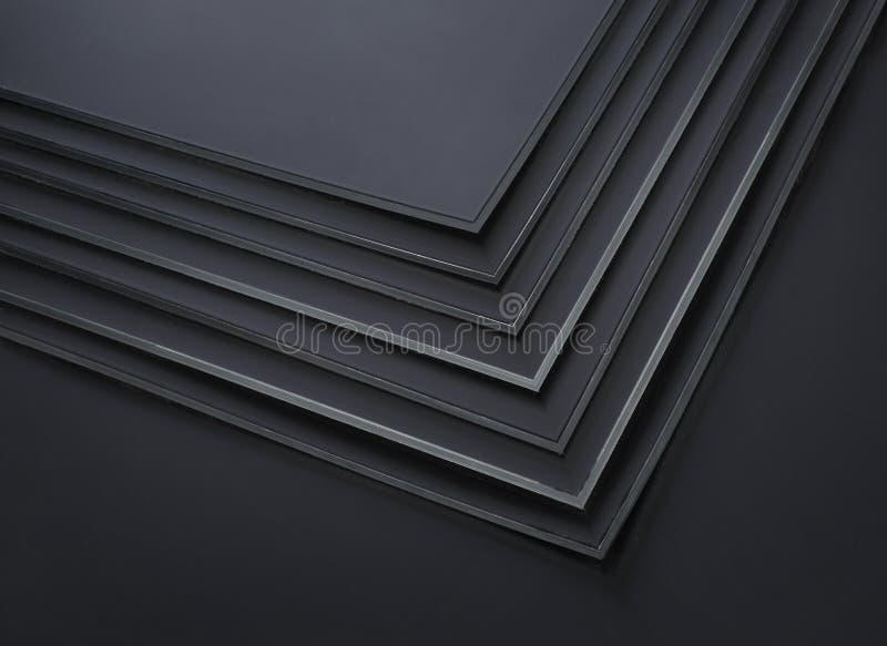 黑塑料板材 免版税库存图片