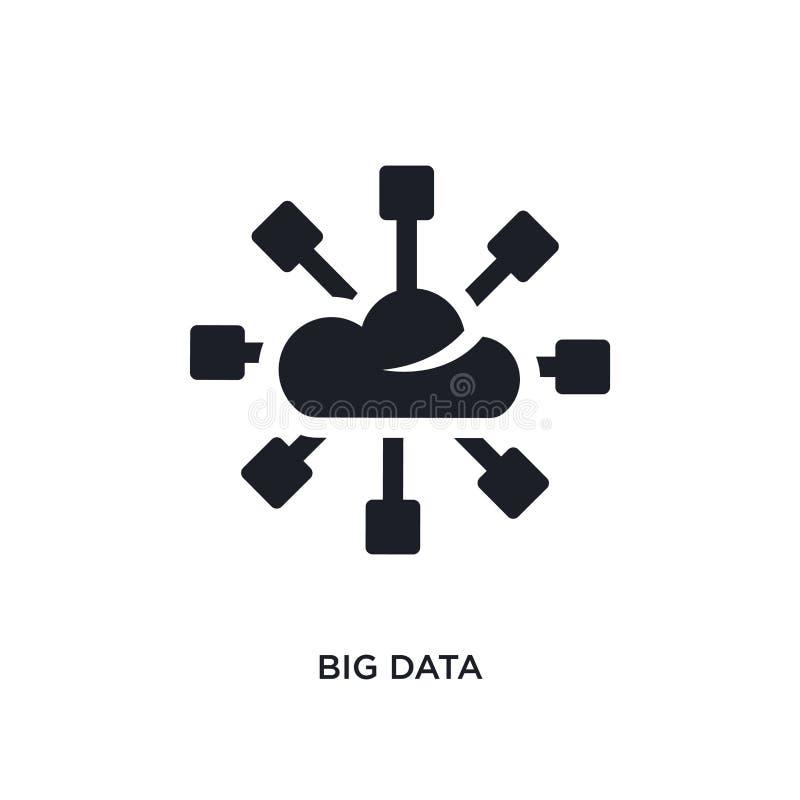 黑大数据被隔绝的传染媒介象 从概念传染媒介象的简单的元素例证 大数据编辑可能的黑商标标志 皇族释放例证