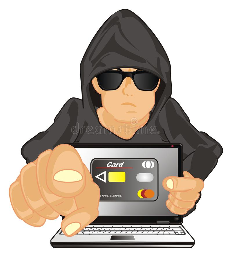 黑客使您拟订 库存例证