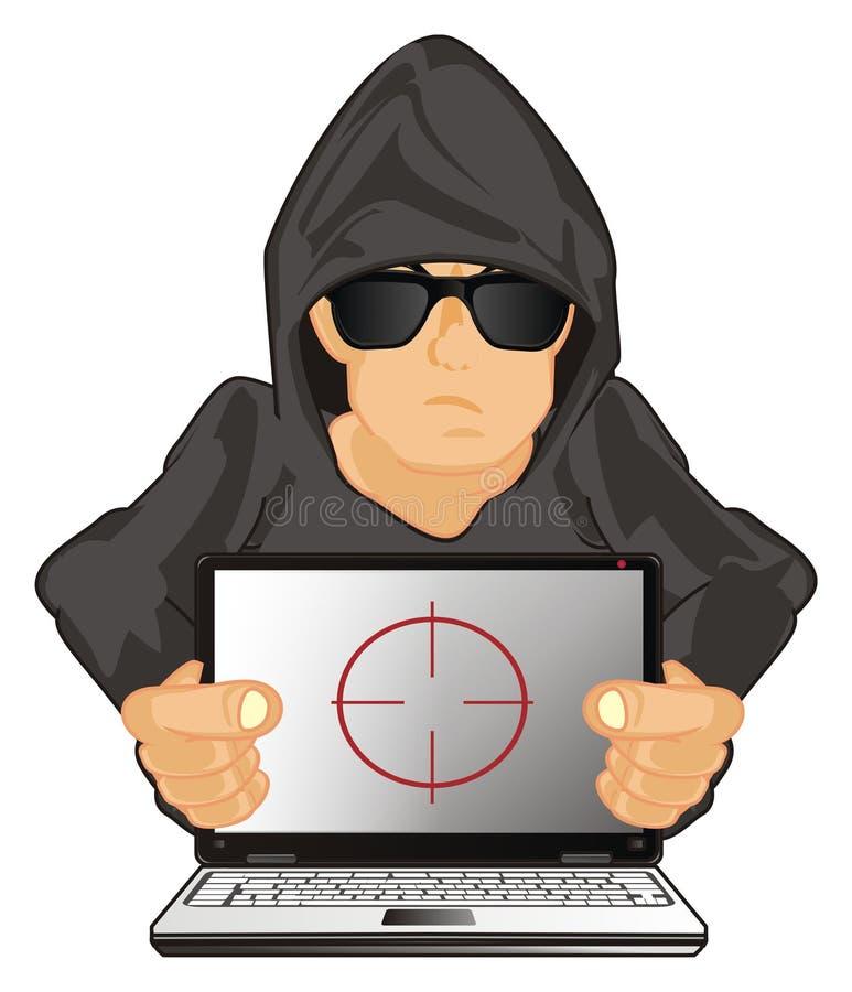 黑客和视域 皇族释放例证