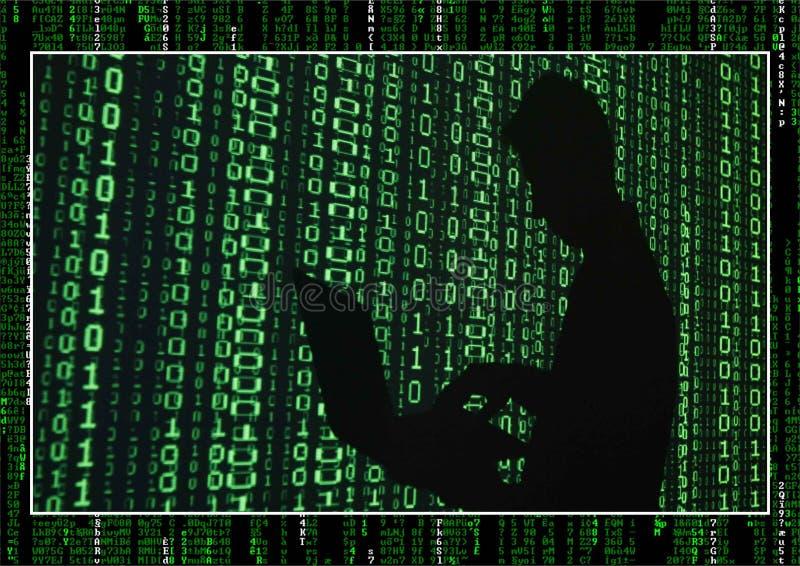 黑客墙纸公共 免版税库存照片