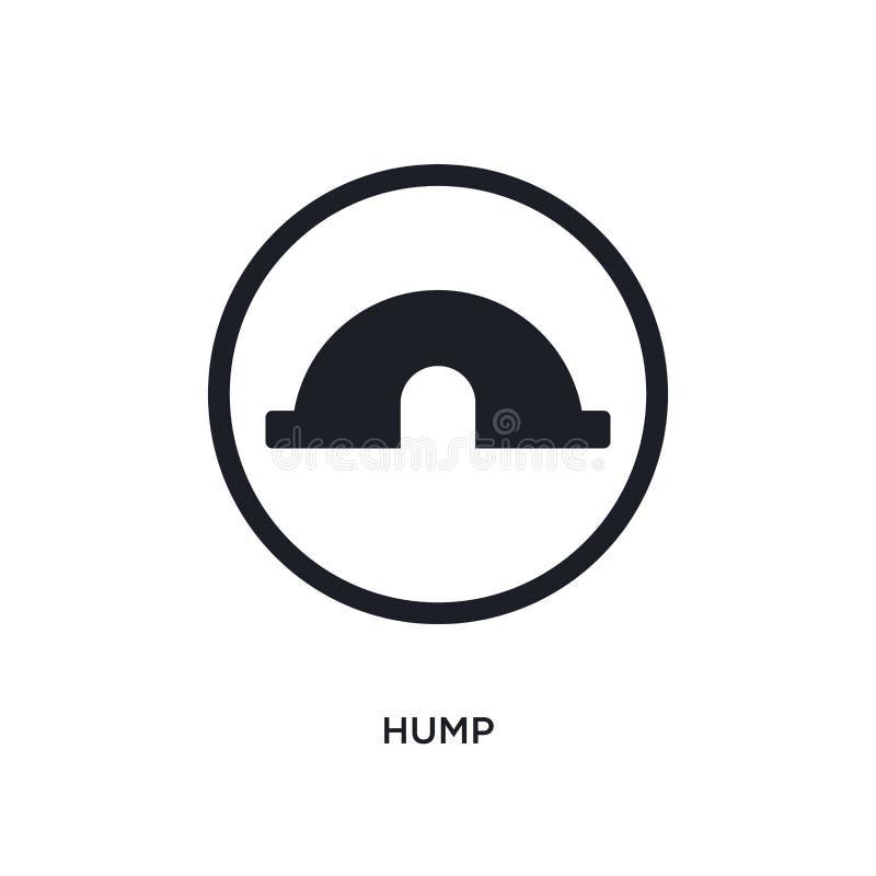 黑小丘被隔绝的传染媒介象 从的简单的元素例证交通标志概念传染媒介象 小丘编辑可能的商标标志 向量例证