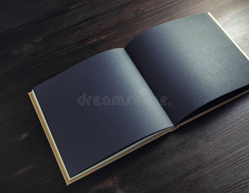 黑小册子嘲笑 库存照片