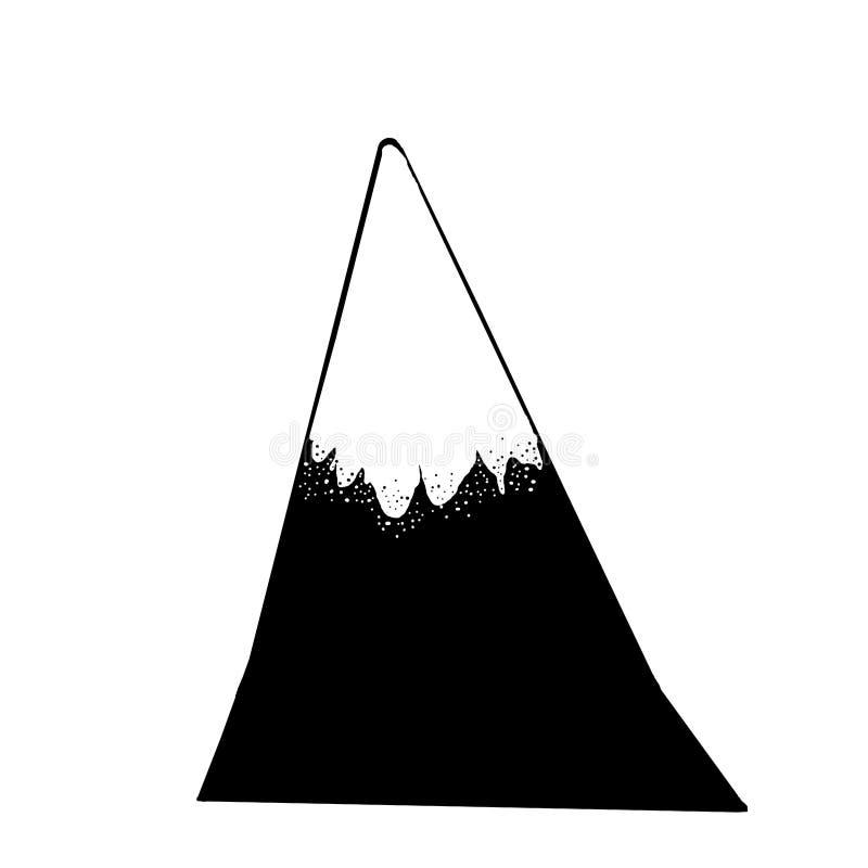 黑山上面 向量例证