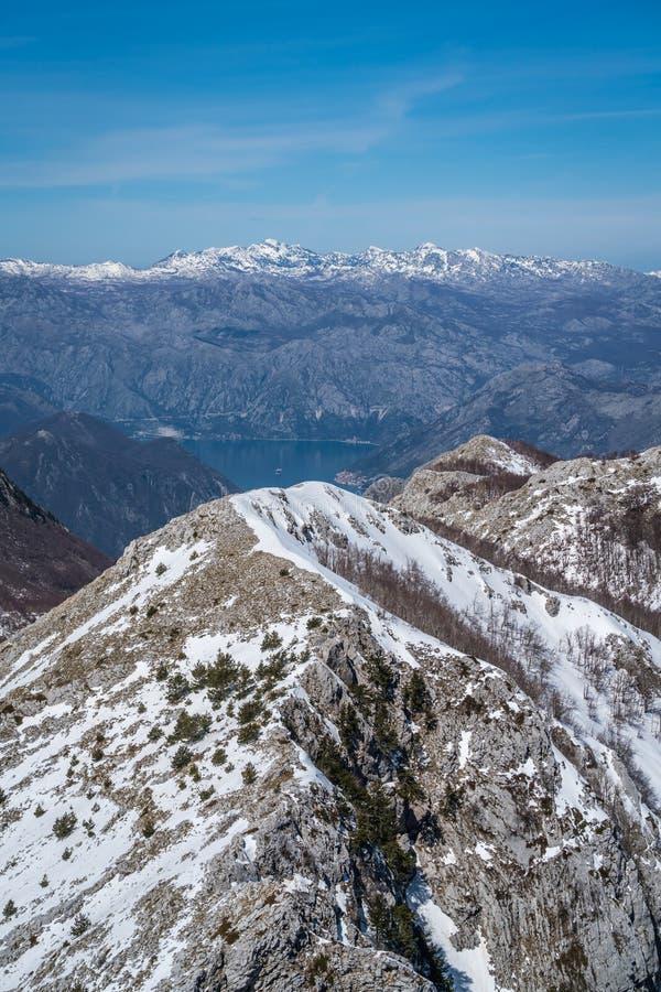 黑山山风景在冬天 库存图片