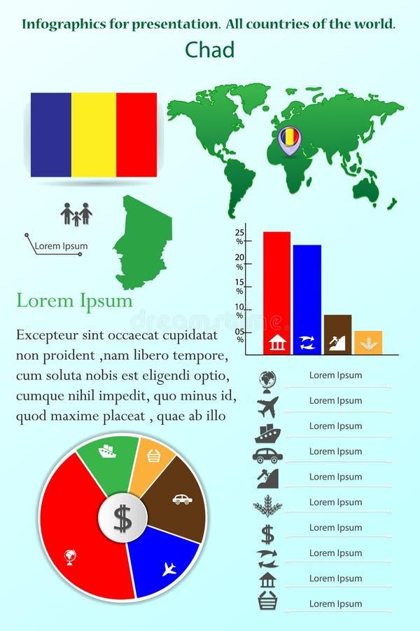 黑山 介绍的Infographics 世界的所有国家 库存例证