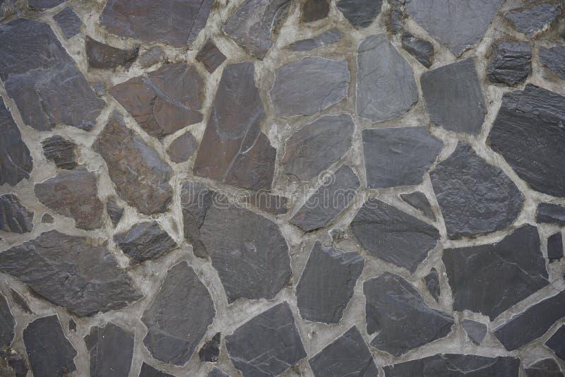 黑岩石墙壁 库存图片