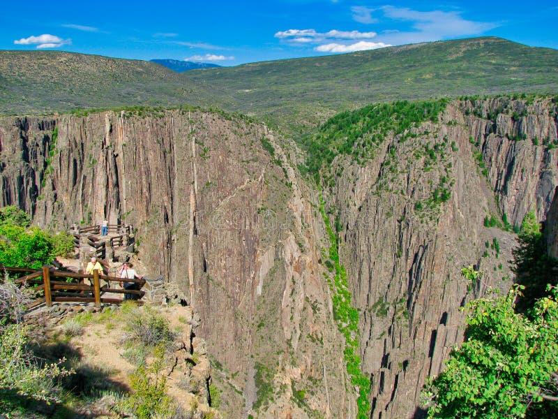 黑峡谷俯视 免版税库存图片