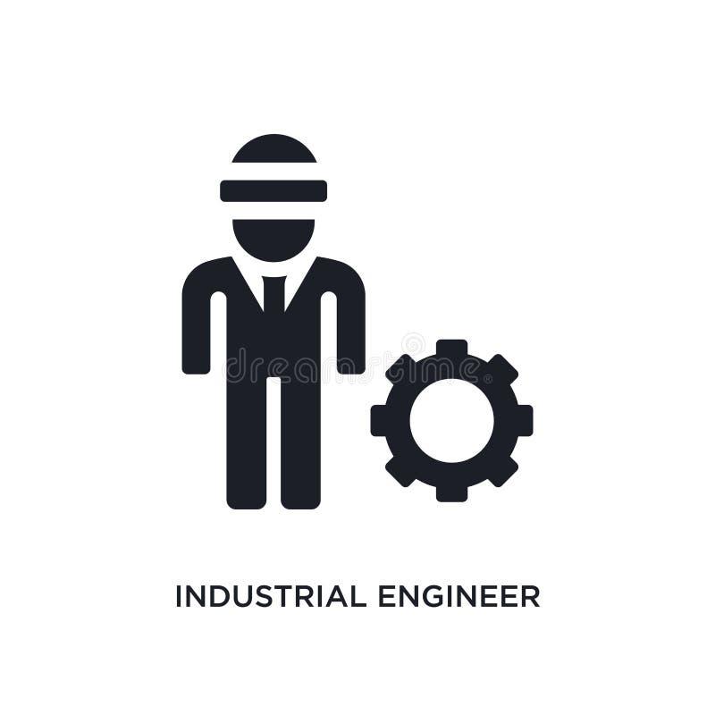 黑工业工程师被隔绝的传染媒介象 从产业概念传染媒介象的简单的元素例证 行业 皇族释放例证