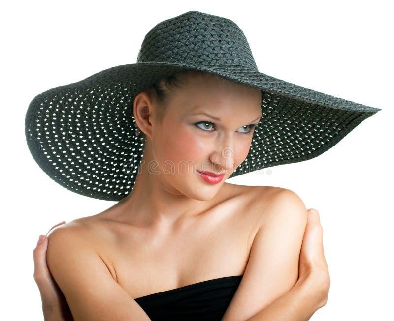 黑帽会议妇女 图库摄影