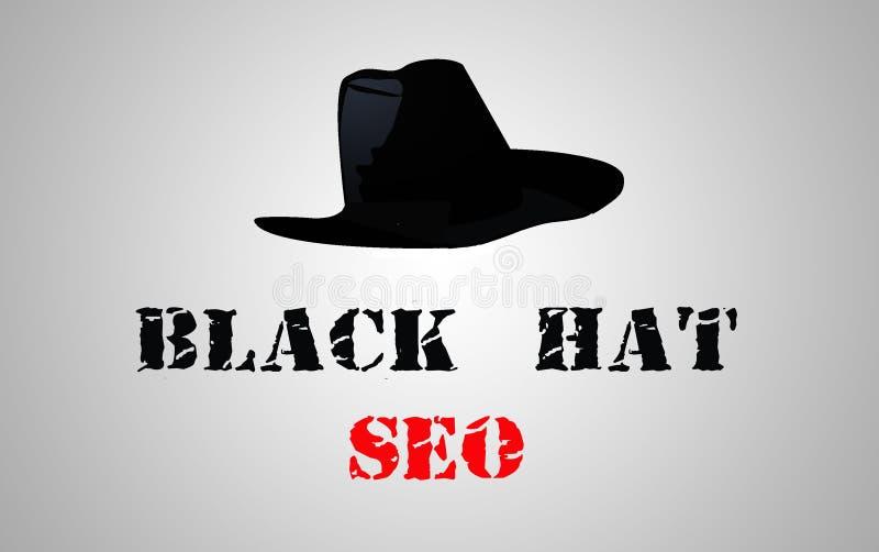 黑帽会议seo 向量例证
