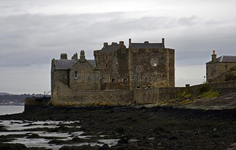 黑度城堡一个外国人地点在苏格兰 免版税库存照片