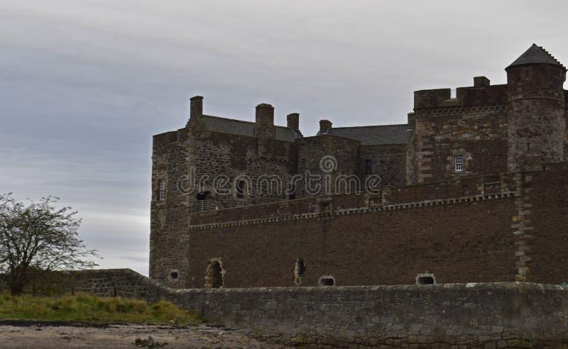 黑度城堡一个外国人地点在苏格兰 库存照片