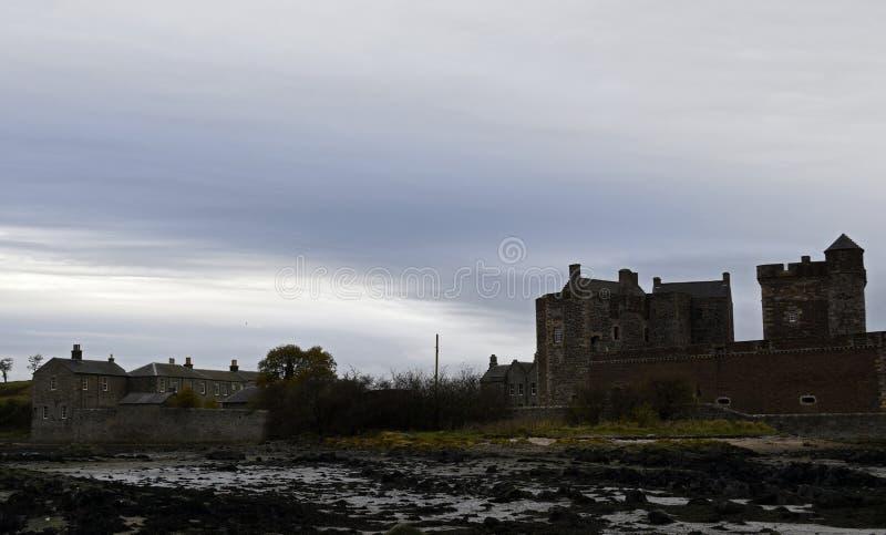 黑度城堡一个外国人地点在苏格兰 库存图片