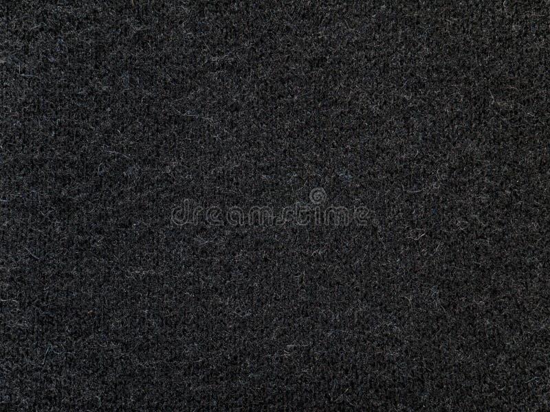黑开士米羊毛针织品织品纹理 库存图片