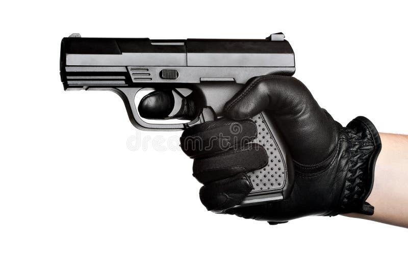 黑手党手枪指向 库存照片