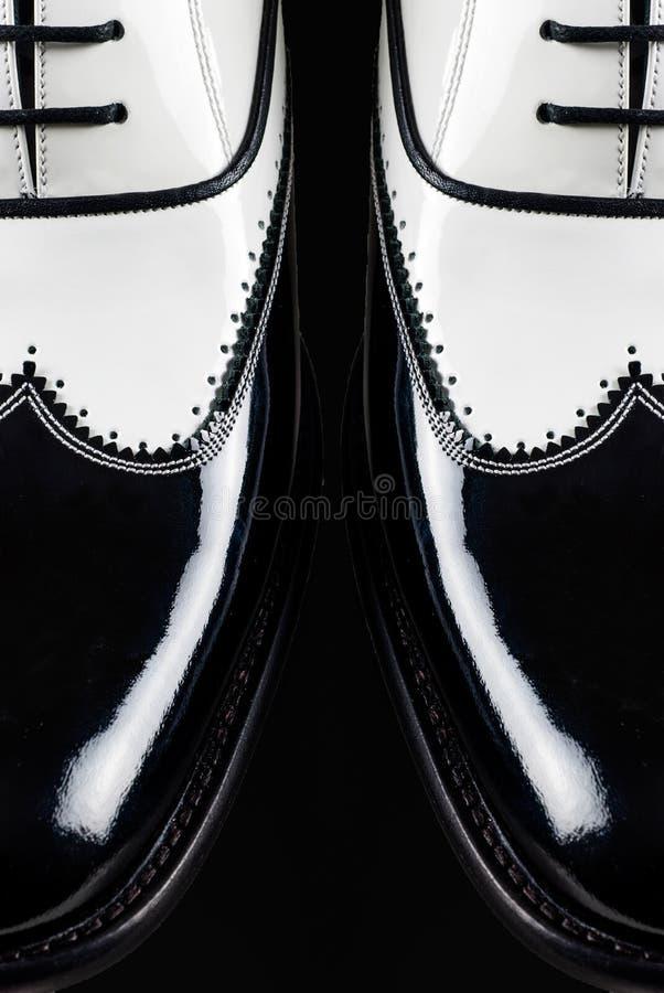 黑手党鞋子 库存图片