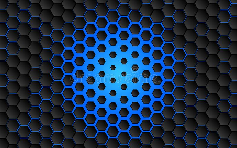 黑抽象数字式高科技概念背景 向量例证