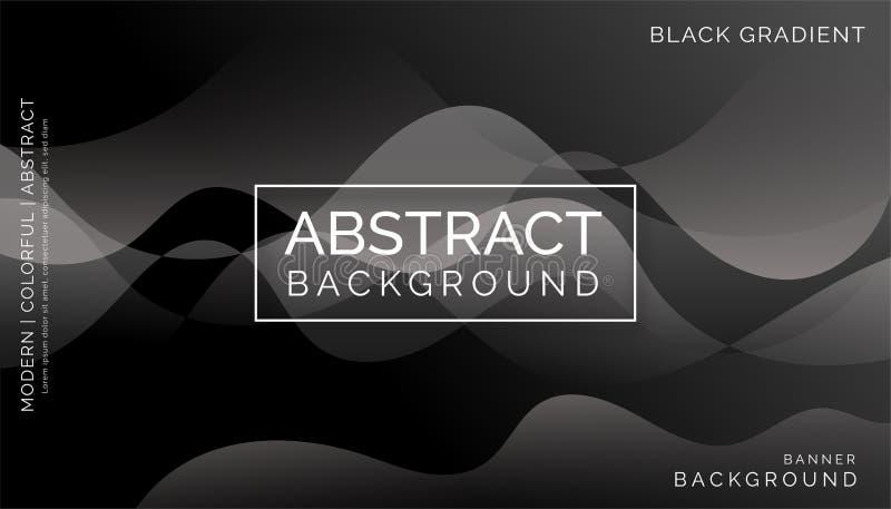黑抽象背景,现代五颜六色的背景,动态抽象背景 免版税库存图片
