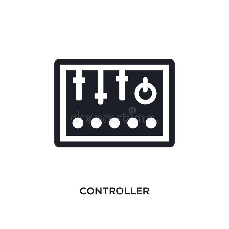 黑控制器被隔绝的传染媒介象 从产业概念传染媒介象的简单的元素例证 控制器编辑可能的商标 皇族释放例证