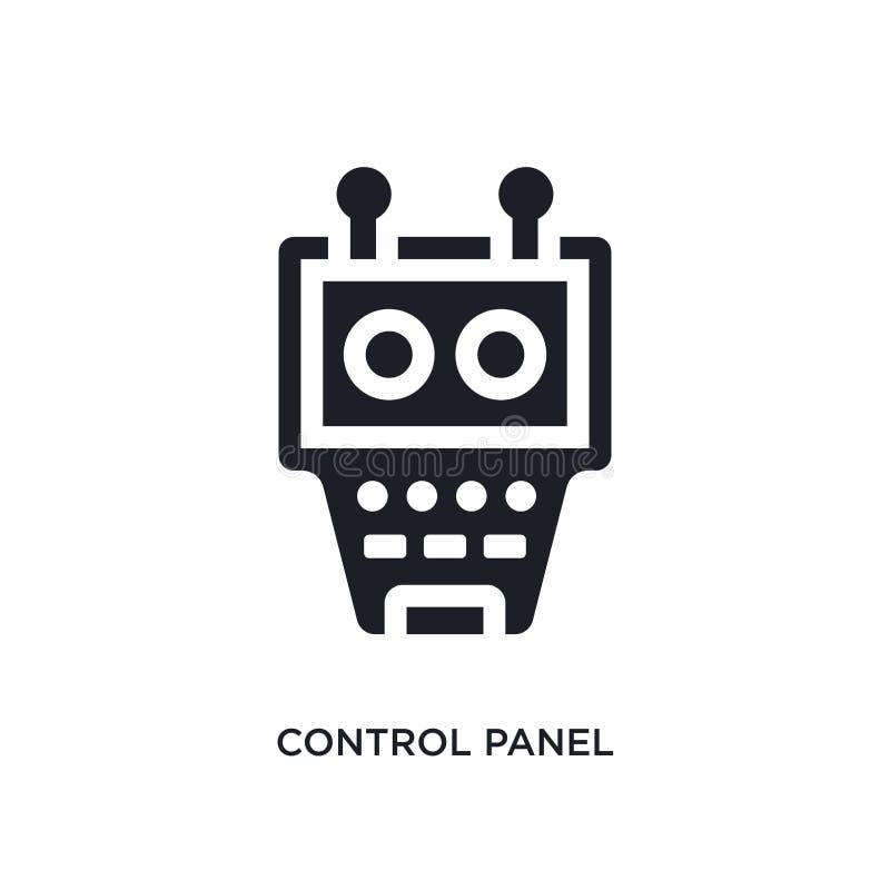 黑控制板被隔绝的传染媒介象 从产业概念传染媒介象的简单的元素例证 编辑可能的控制板 皇族释放例证