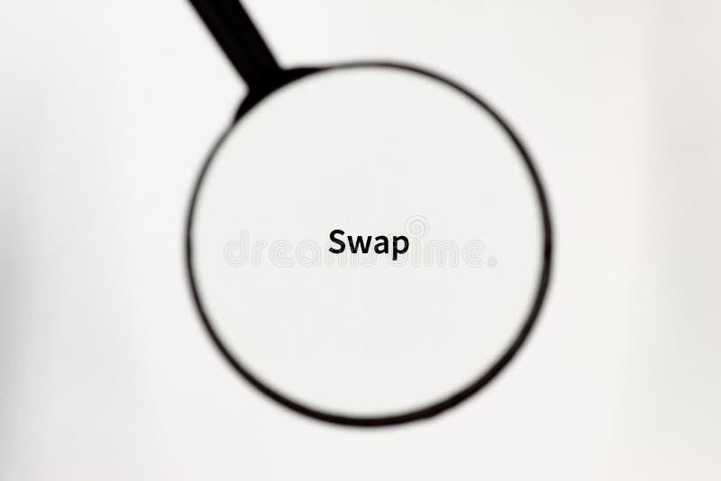 黑放大器扩大化在一张白色纸片的题字 库存图片