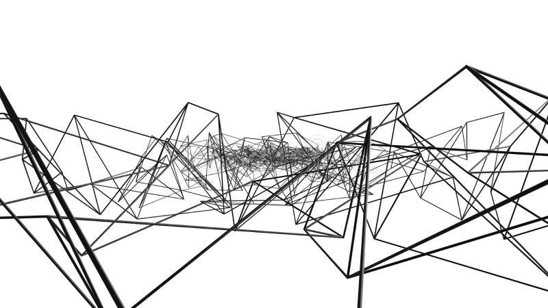 黑数字资料和网络连接三角在技术排行 库存例证