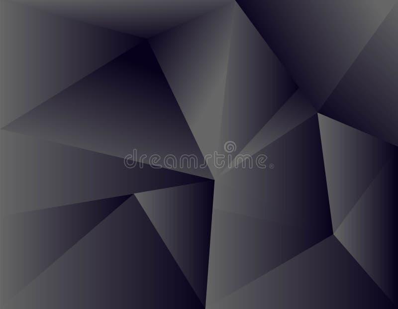 黑文本和消息设计现代网站的背景交叠维度灰色传染媒介例证留言栏 向量例证