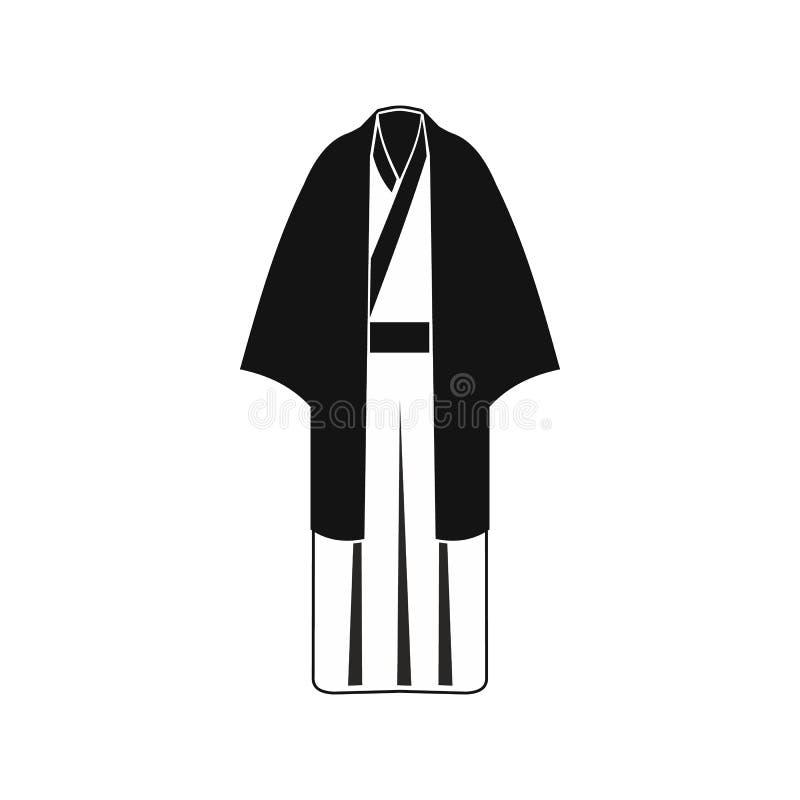 黑日本和服象,简单的样式 皇族释放例证