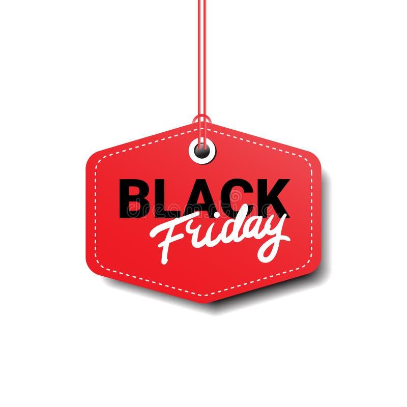 黑星期五标记被隔绝的大销售商标设计 皇族释放例证