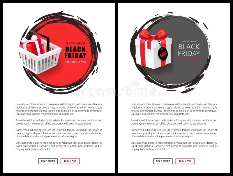 黑星期五电视节目预告网海报,大大减价 皇族释放例证