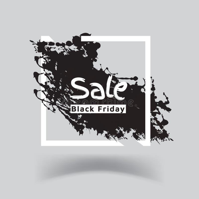 黑星期五销售横幅模板设计 免版税库存图片