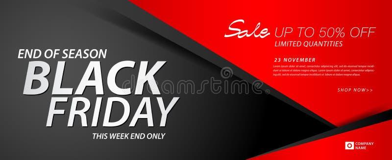 黑星期五销售横幅,广告,倒栽跳水横幅,礼券,折扣卡片,促进海报,广告,营销,标记 库存例证
