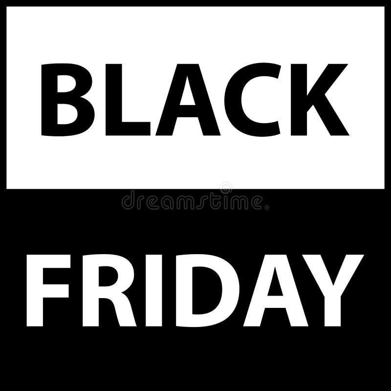 黑星期五销售黑色标记做广告围绕横幅传染媒介例证 库存例证